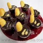 Copas de bizcocho chocolate y toffe