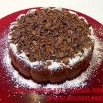 Tarta de chocolate y crema chantilli