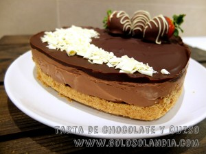 Tarta de chocolate y queso