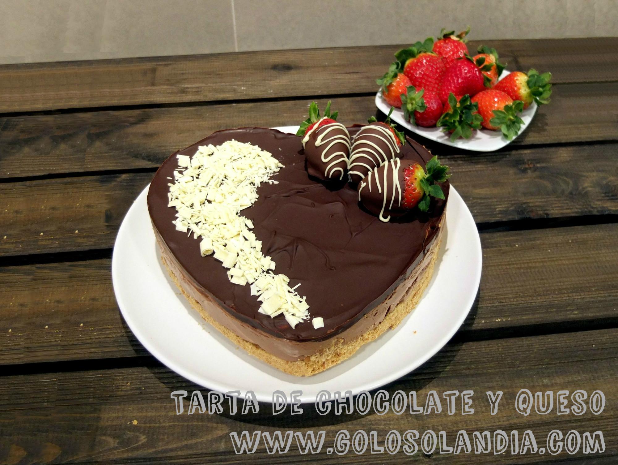 Tarta de chocolate y queso for Como decorar una torta facil y economica