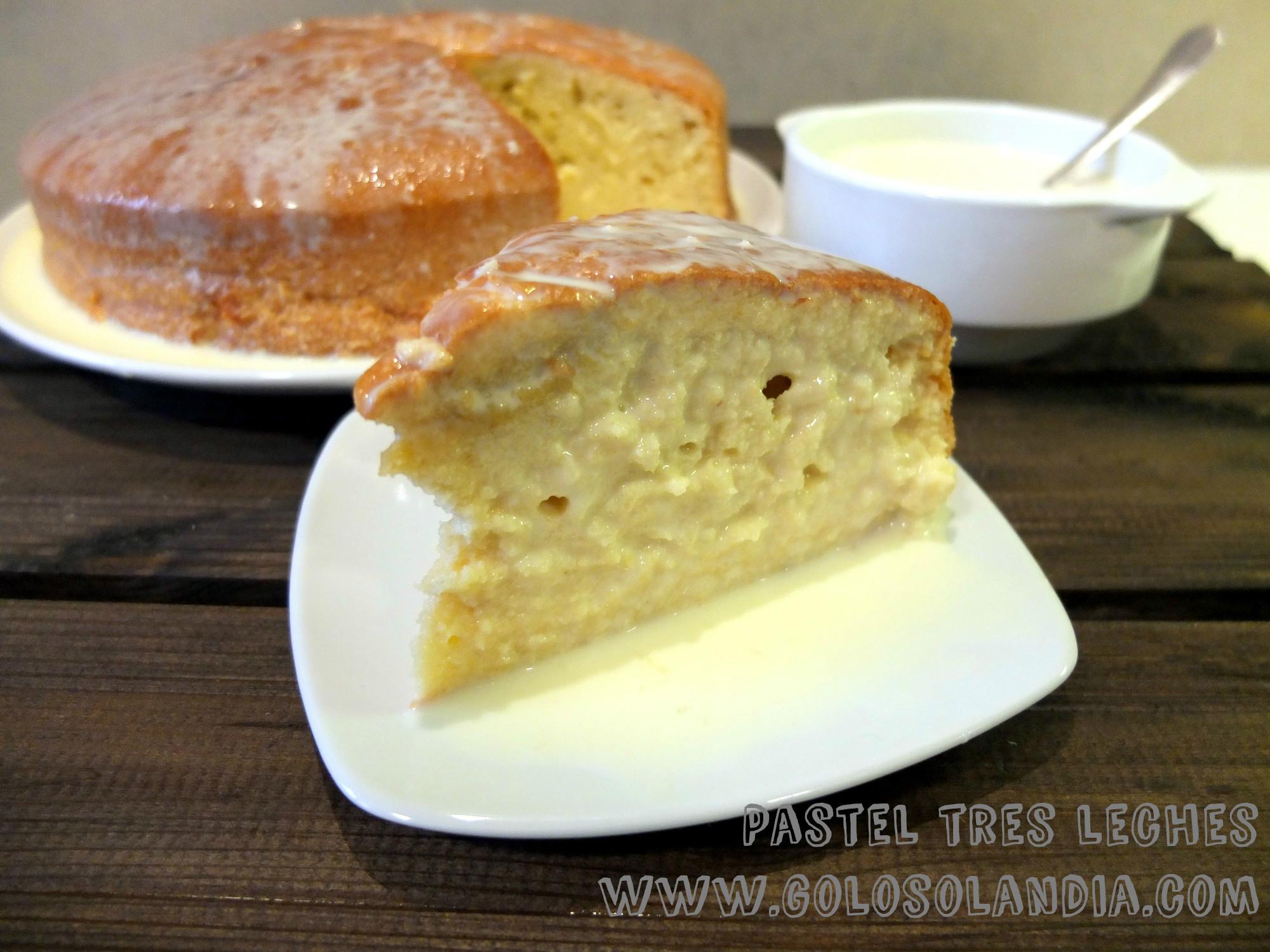 receta pastel de tres leches casero