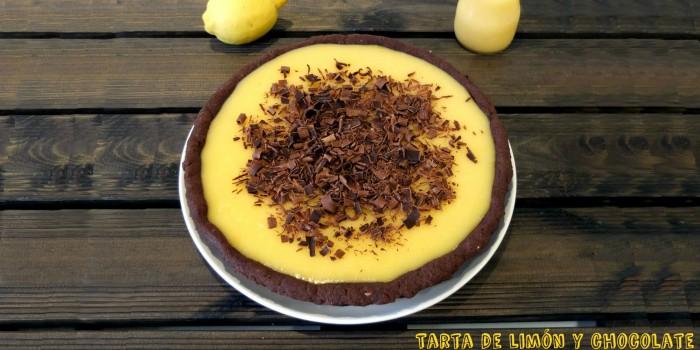 Tarta de limón y chocolate