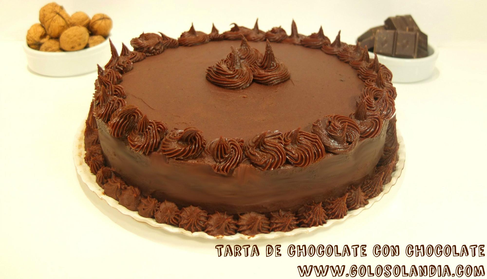 Tarta de chocolate con chocolate receta y v deo for Decoracion tartas infantiles