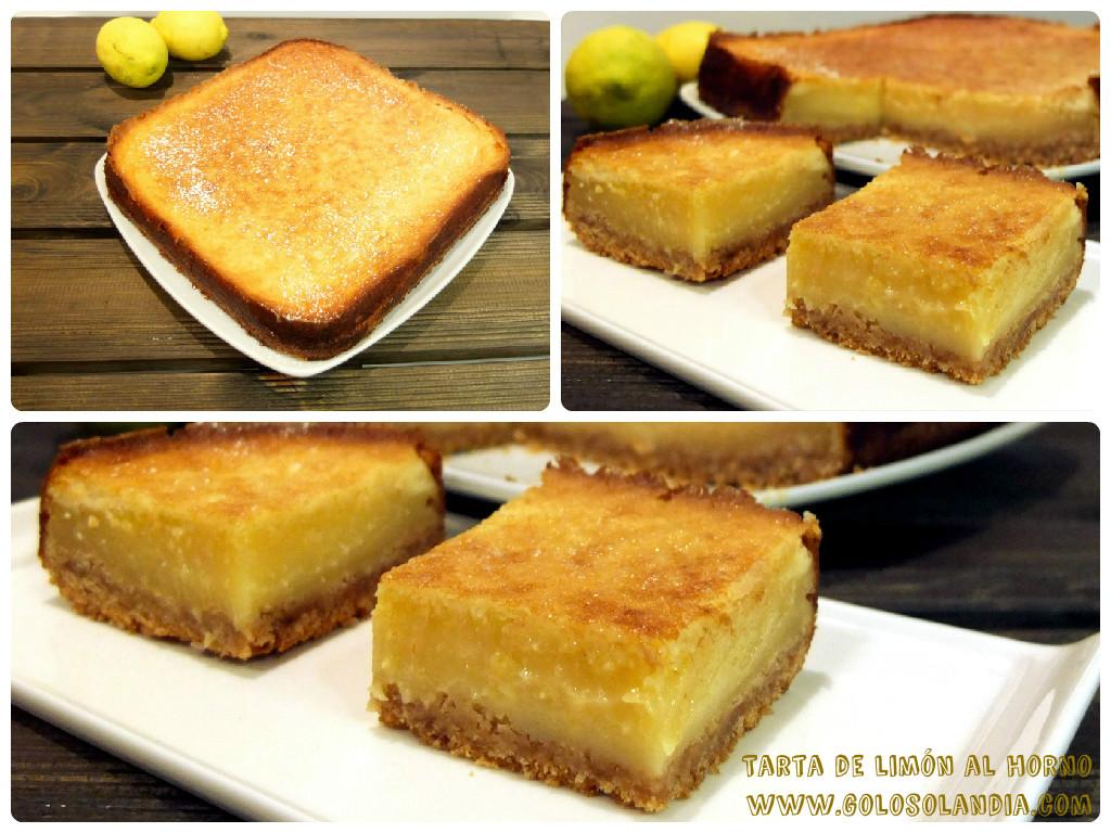 Tarta de limón al horno