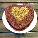 Tarta de chocolate de San Valentín