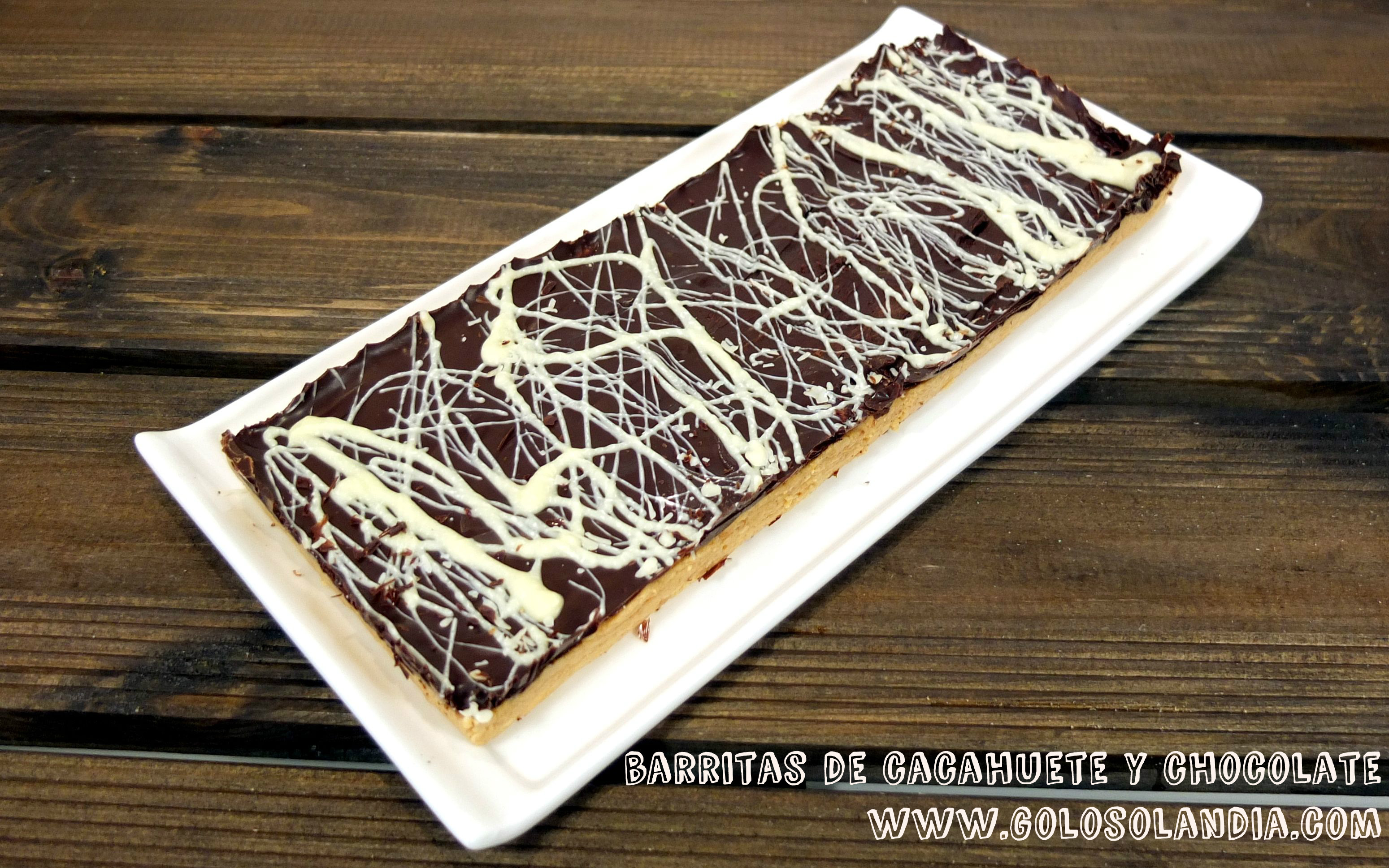 Barritas de cacahuete y chocolate