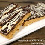 Barritas de cacahuete y chocolate