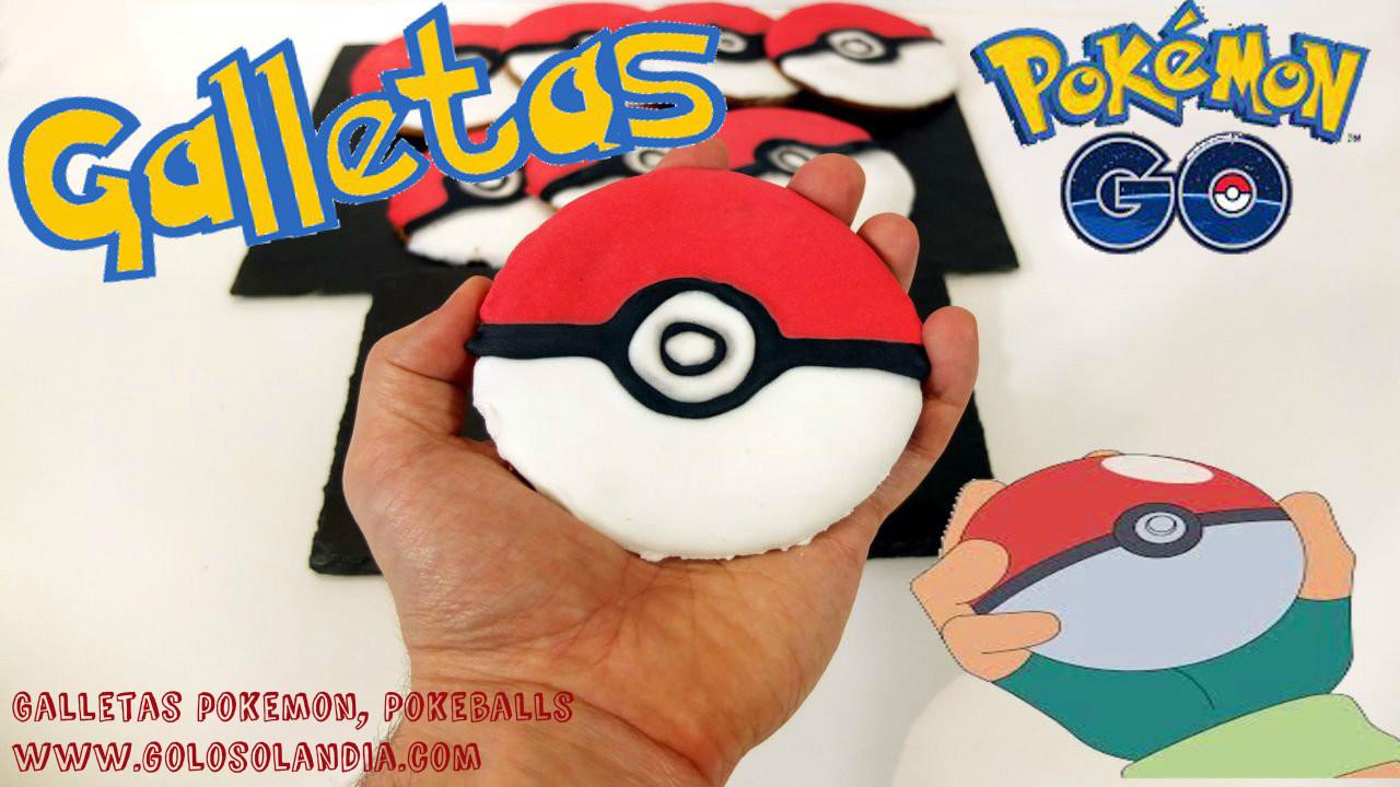 Galletas pokeballs , galletas de Pokemon.