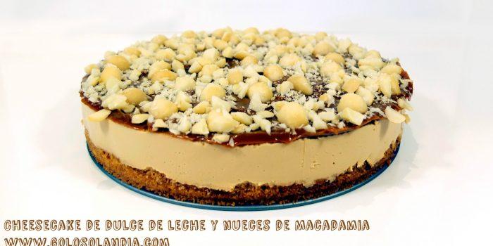 Cheesecake de dulce de leche y nueces de Macadamia
