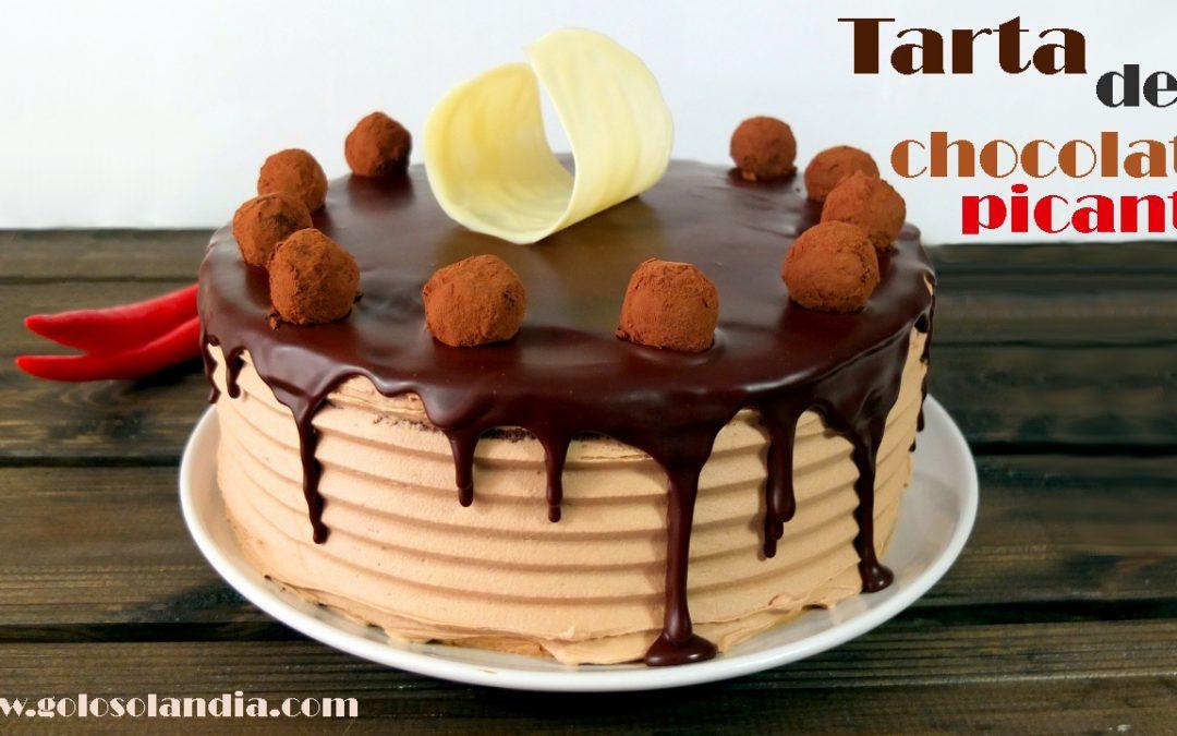 Tarta de chocolate picante