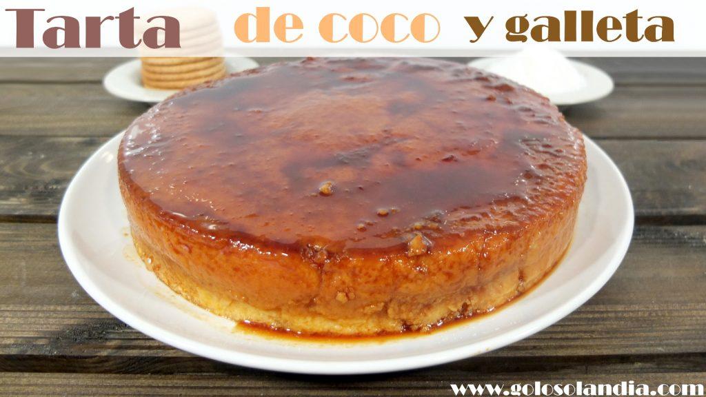 Tarta de coco y galleta