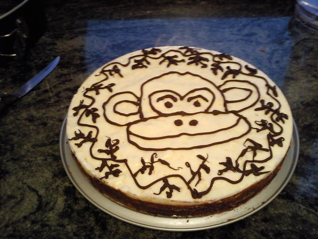 Tarta mousse de chocolate y crema catalana (Tarta Mona)