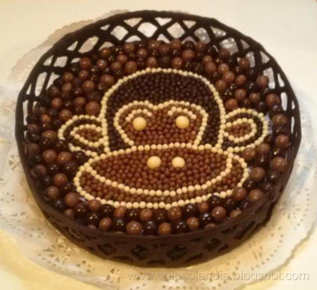 Tarta de chocolate y natillas
