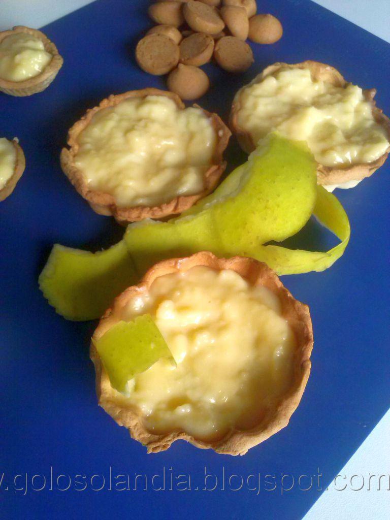 Tartaletas de crema con manzana,receta casera paso a paso