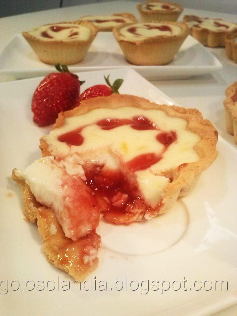 Tartaletas de queso fresco y mermelada, receta casera