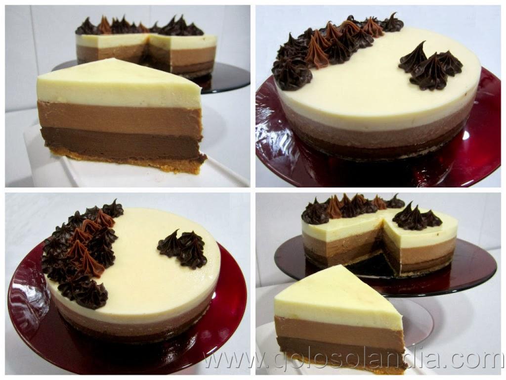 Decorar Tarta Tres Chocolates Con Fresas