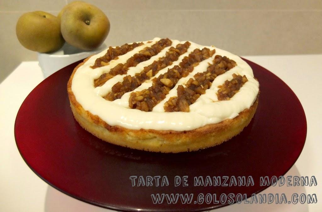 Tarta de manzana moderna