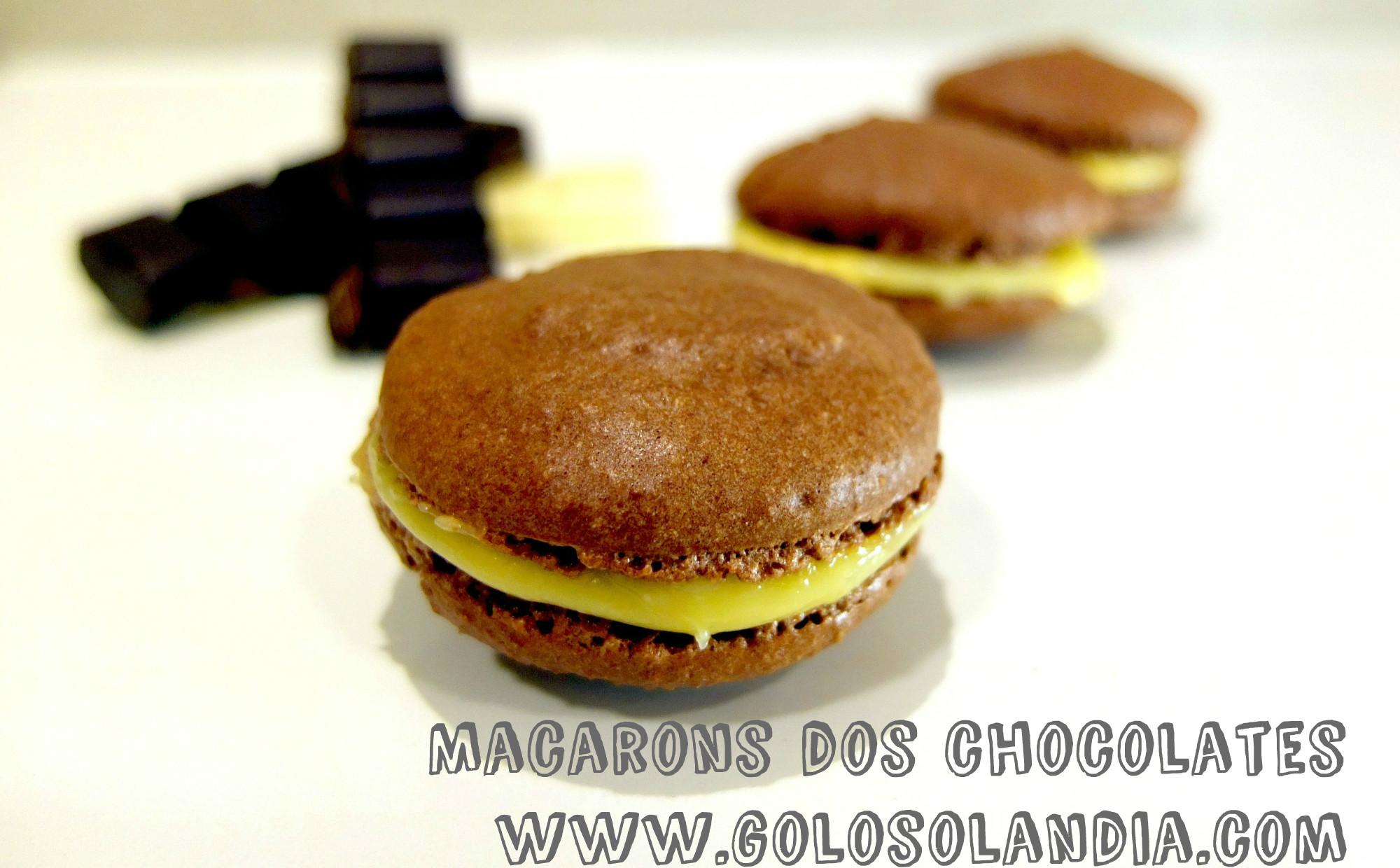 Macarons dos chocolates