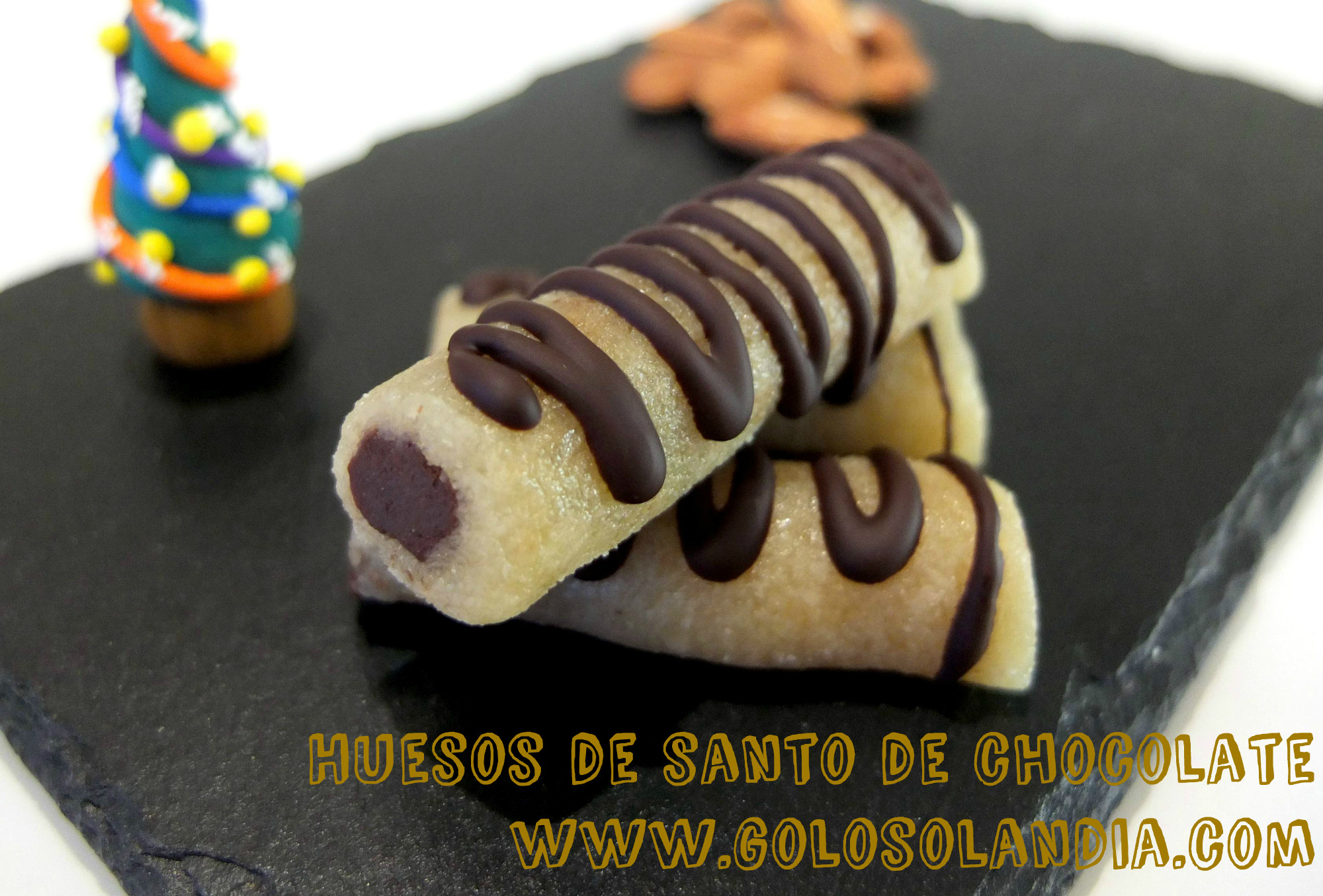 Huesos de santo de chocolate
