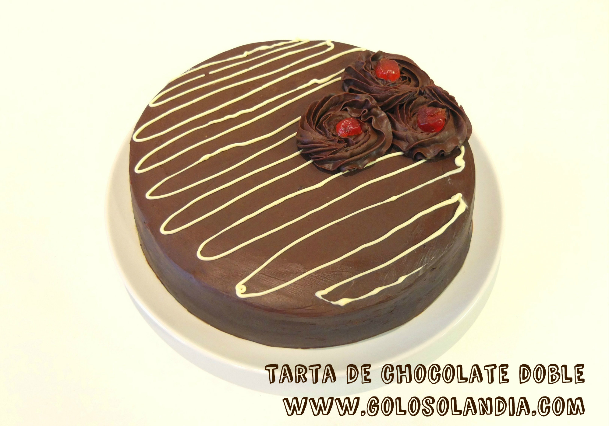 Tarta de chocolate doble