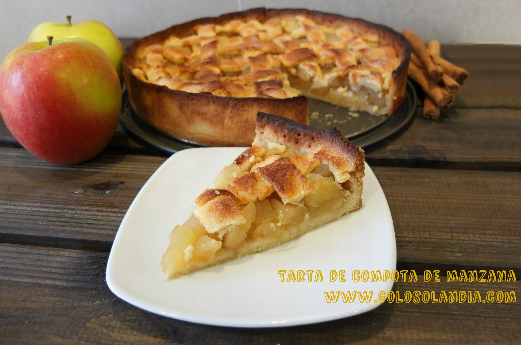 Tarta De Compota De Manzana Golosolandia Recetas Y Vídeos De Postres Y Tartas