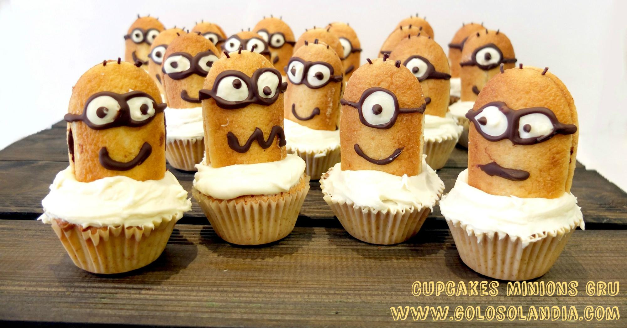 Cupcakes Minions de Gru