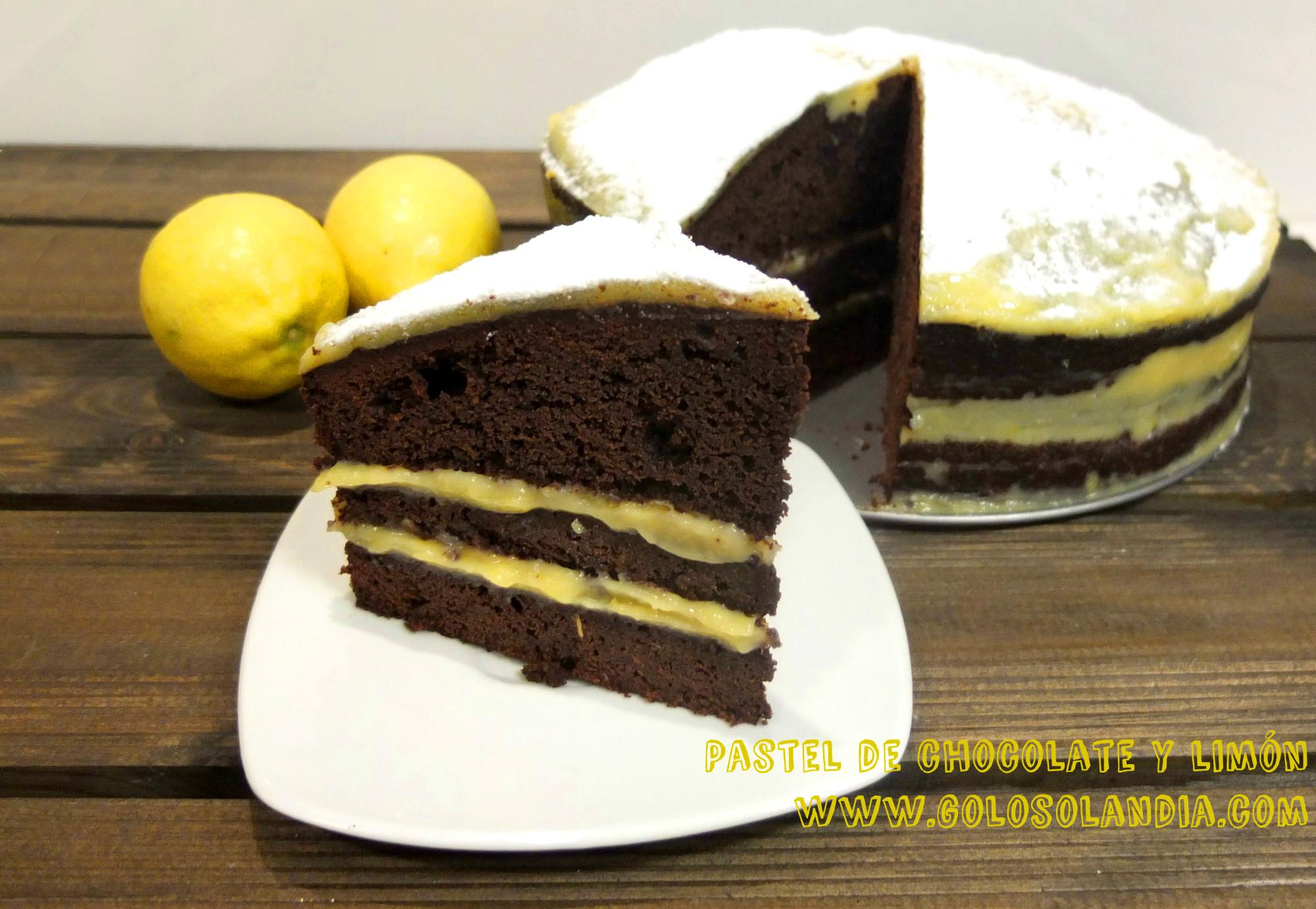 Pastel de chocolate y limón
