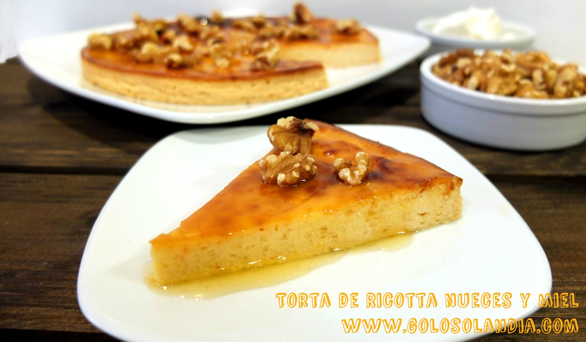 Torta de Ricotta nueces y miel