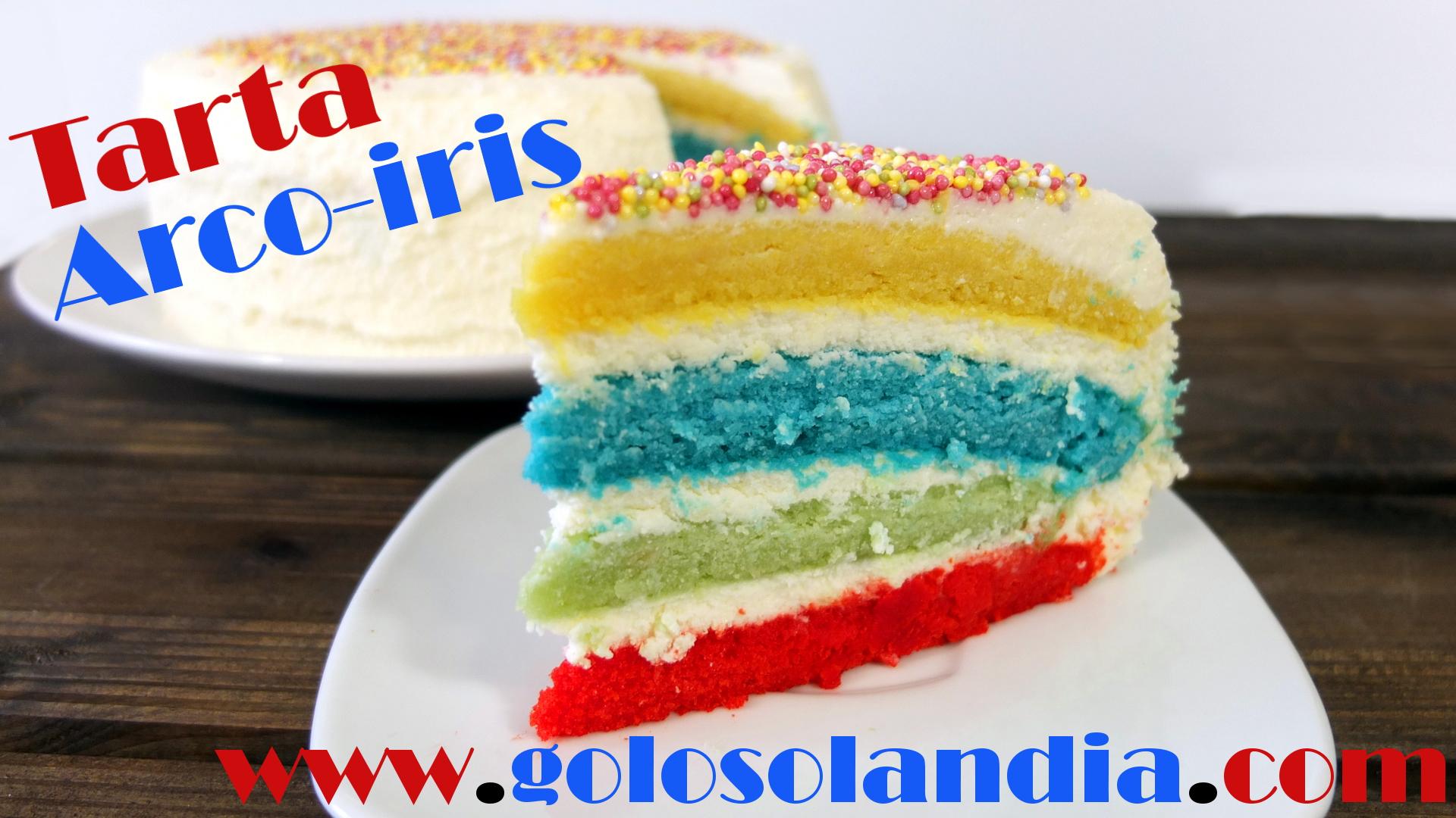 tarta arco-iris