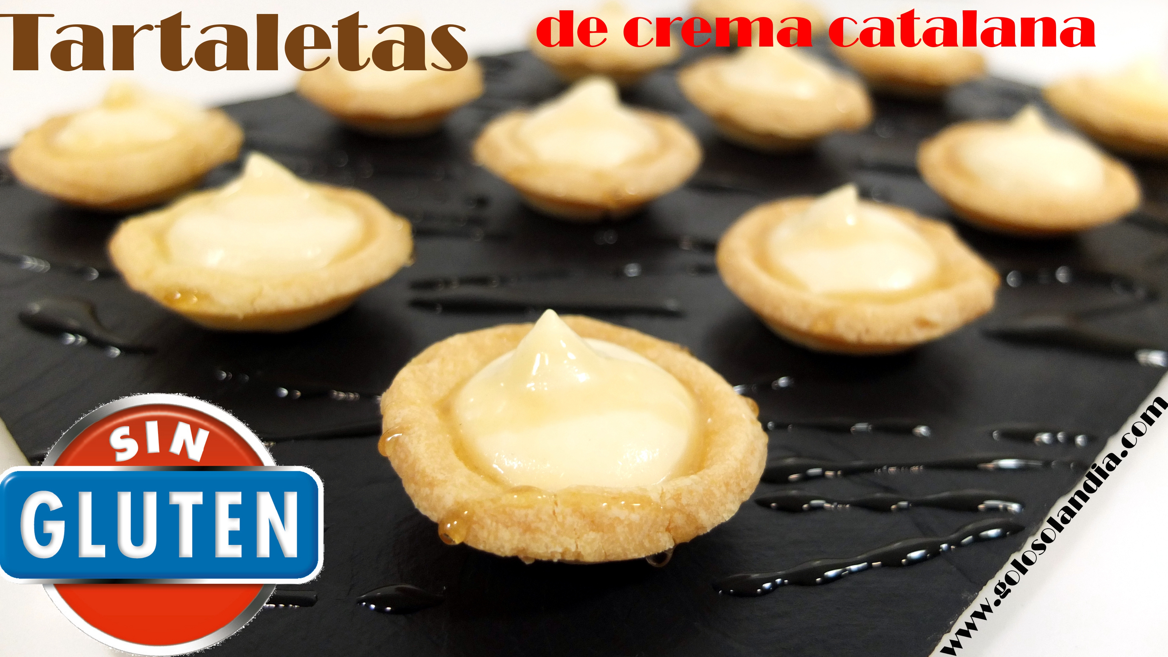 Tartaletas sin gluten de crema catalana
