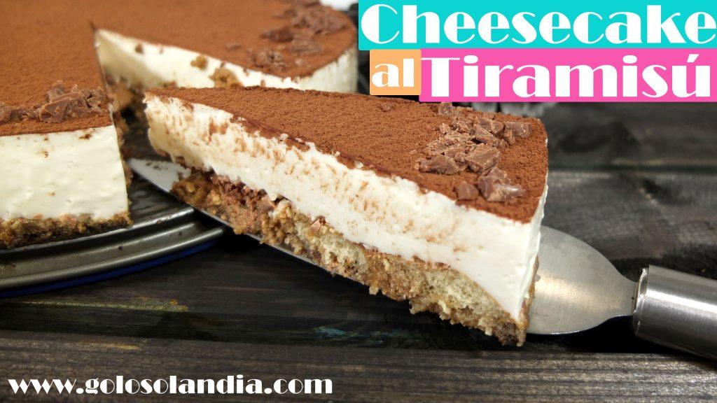 Tarta de queso o cheesecake al tiramisú