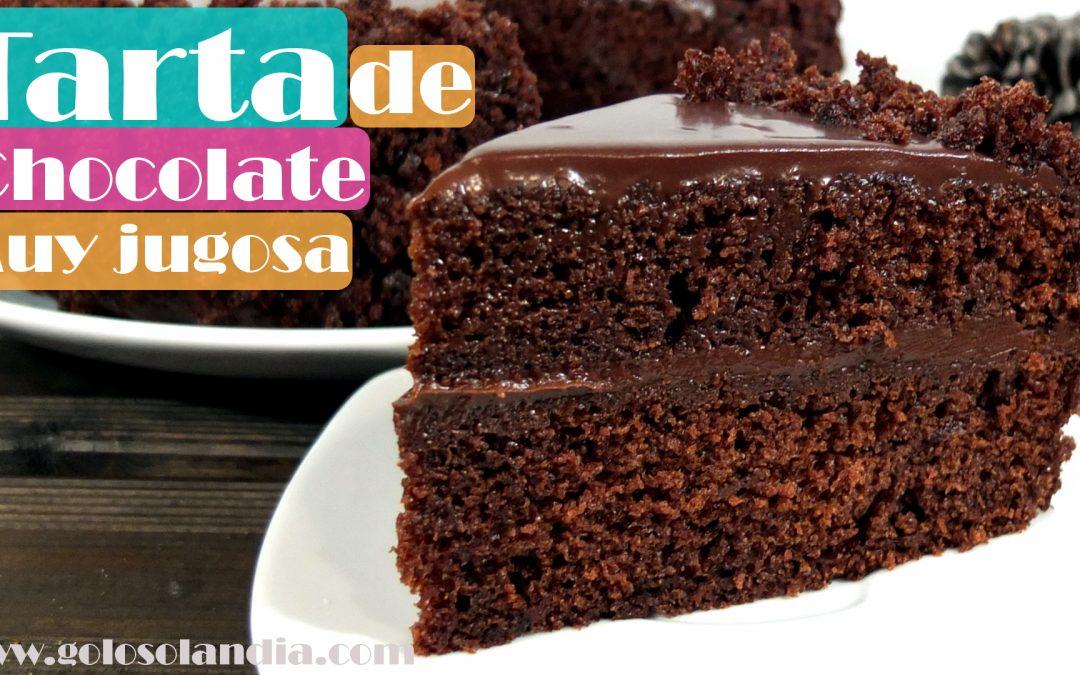 Tarta De Chocolate Jugosa Golosolandia Recetas Y Vídeos