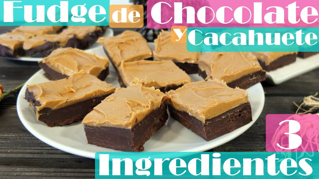 Fudge de chocolate y cacahuete