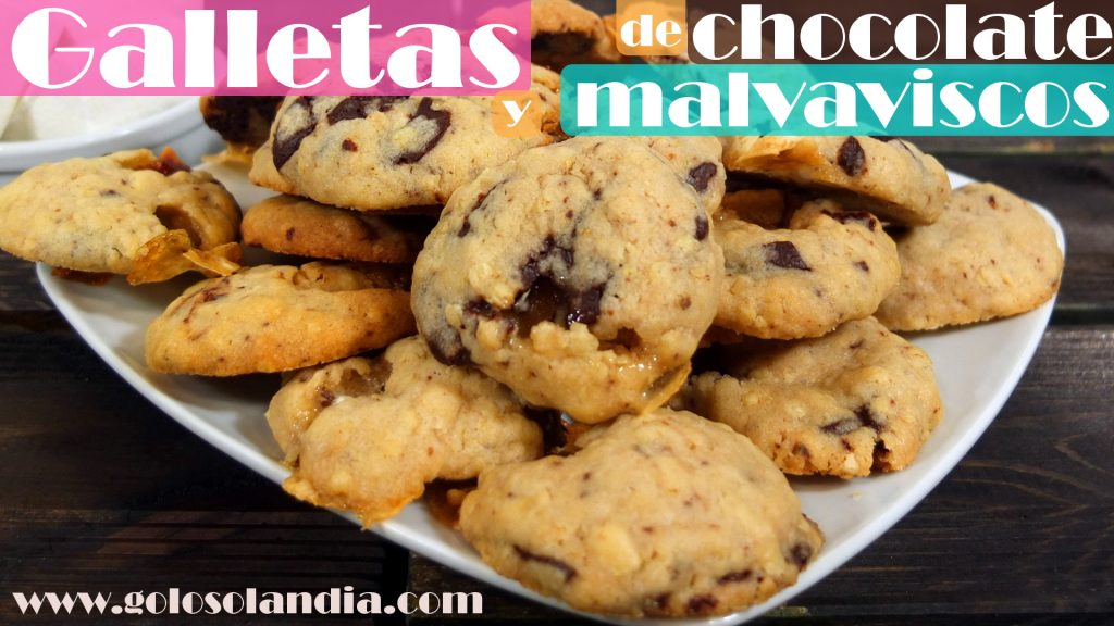 Galletas de chocolate y malvaviscos