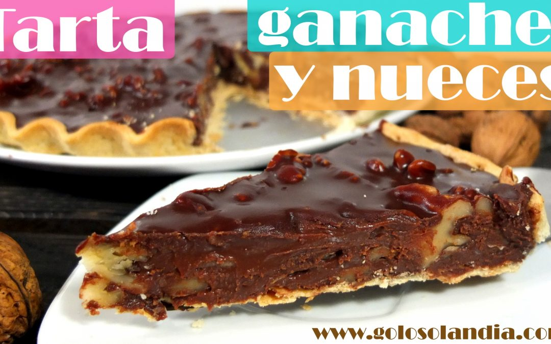 Tarta ganache de chocolate y nueces