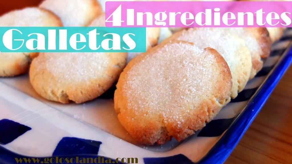Galletas con cuatro ingredientes