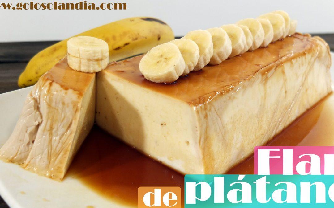 Flan de plátano