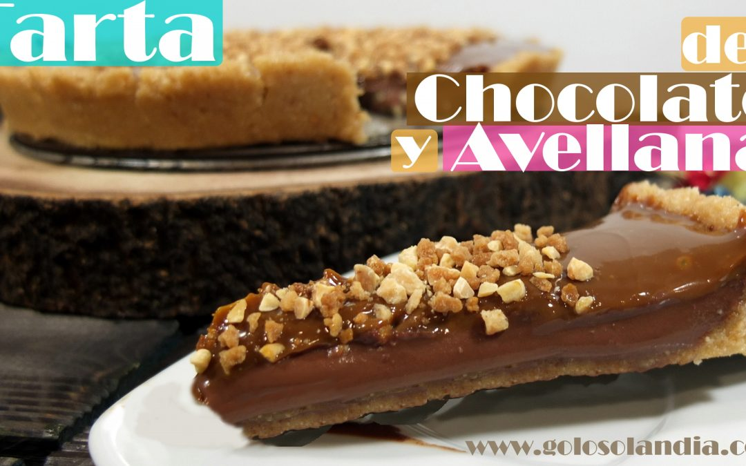 Tarta de chocolate y avellana