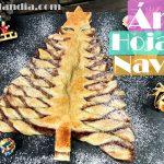 Árbol de hojaldre de Nutella o árbol de navidad dulce