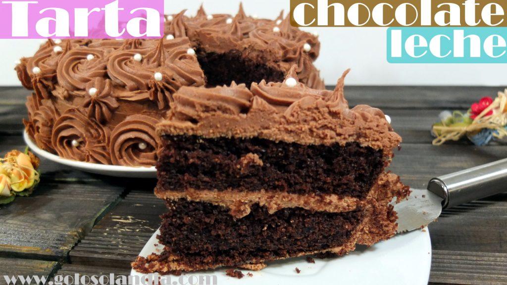 Tarta de chocolate con leche