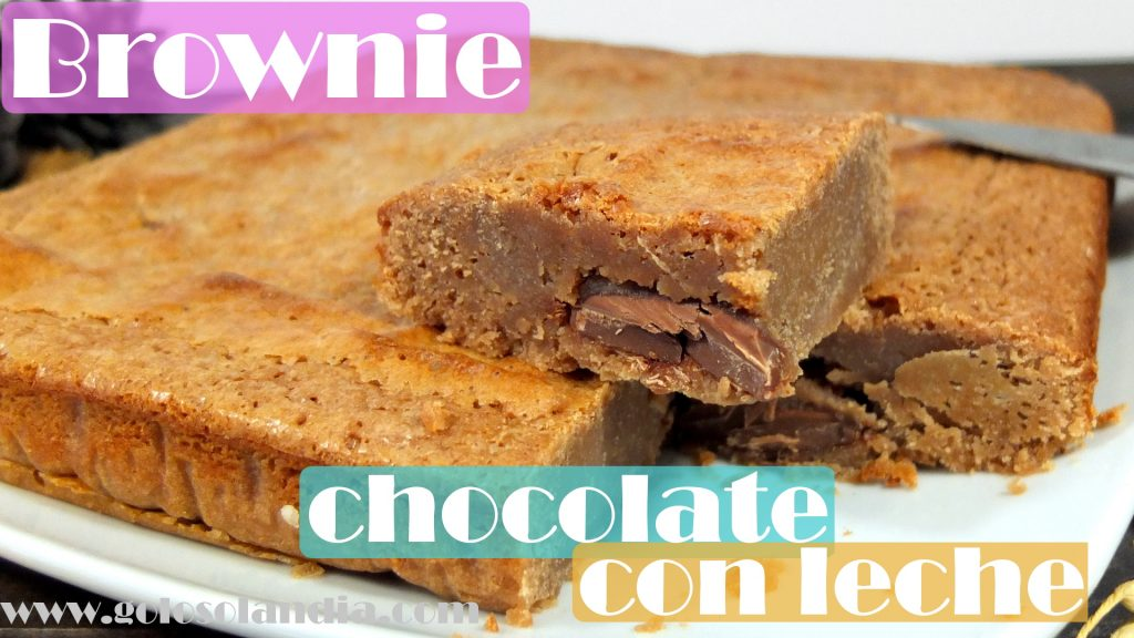 Brownie de chocolate con leche facil casero