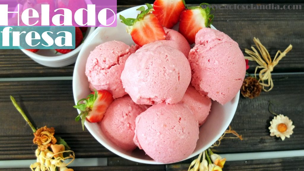 Helado de fresa sin maquina heladera fácil