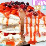 Pavlova de frutos rojos receta casera facil deliciosa