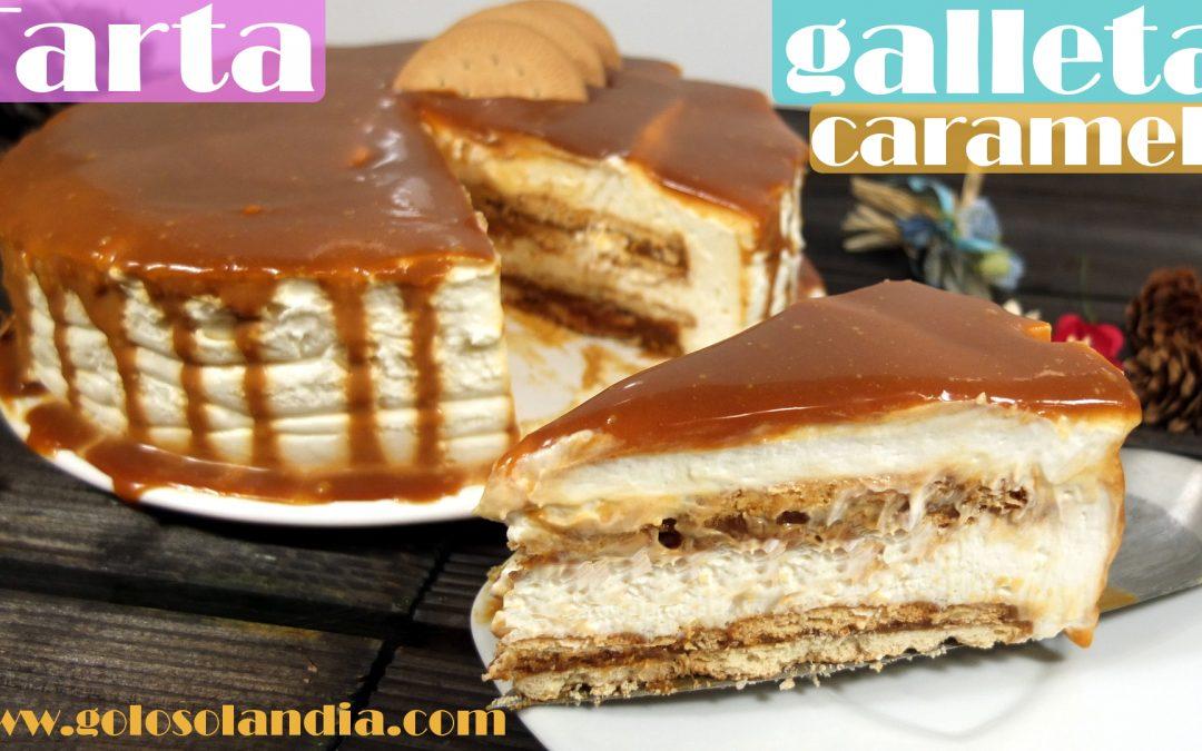 Tarta de caramelo y galleta