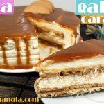 Tarta de galleta y caramelo receta fácil sin horno