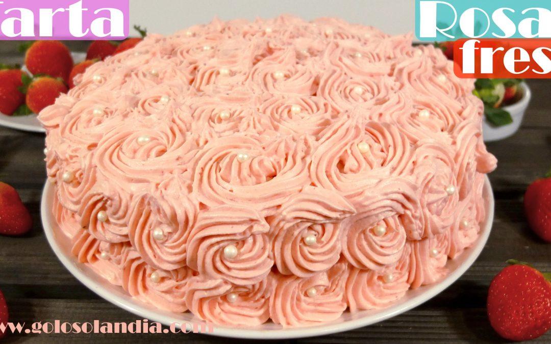 Tarta rosas de fresa