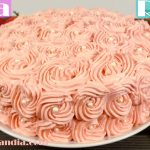 Tarta rosas de fresa receta