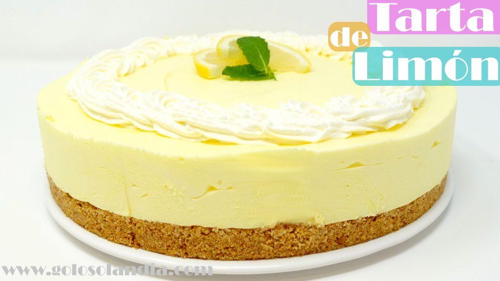 Tarta de limón sin horno fácil y cremosa deliciosa