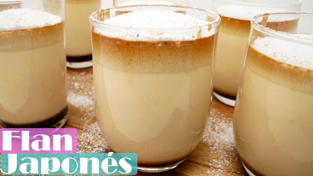 Tu postre favorito: FLAN JAPONÉS 🍮😍(Bizcocho Flan y caramelo en el mismo vaso)🍮😍😍