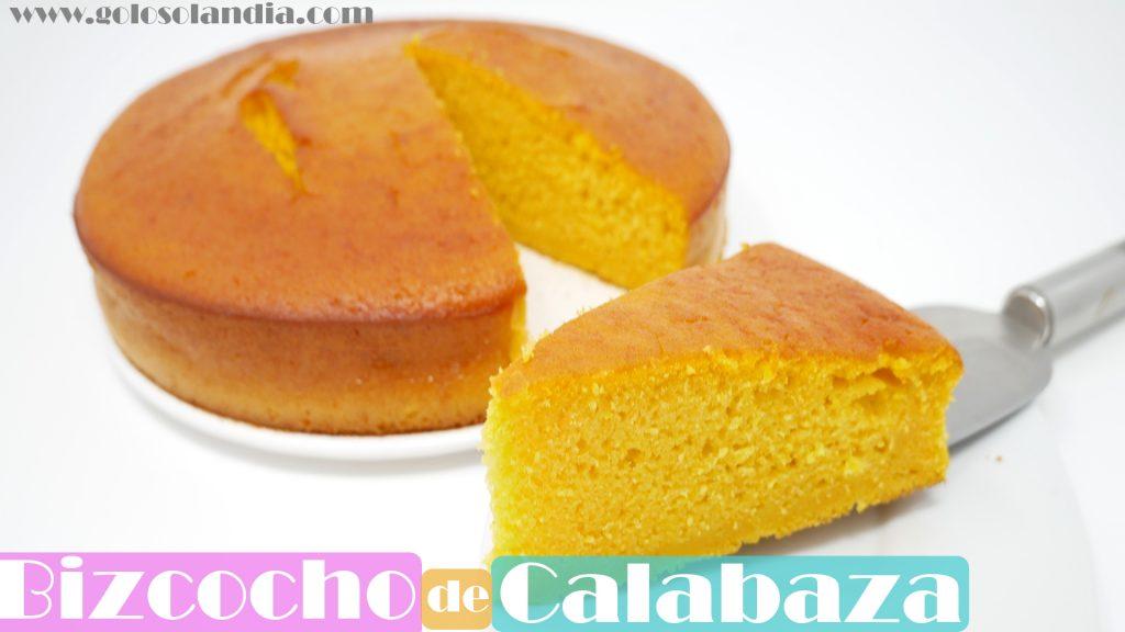 BIZCOCHO de CALABAZA ( ALTO y esponjoso)🍰🎃 | receta FÁCIL🍰🎃